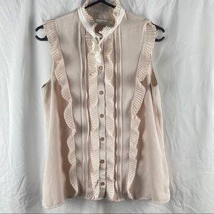 Ted Baker Victorian era Like Button Down Victorian Like Blouse Top Size 2